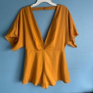NWT Urban Outfitters Burnt Yellow Romper M